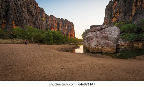 """Jandamarra Rock"" -  named after the aboriginal renegade of the indigenous Bunda People in Windjana Gorge, Kimberley Region, Western Australia. The pools home to dozens of freshwater crocodiles."