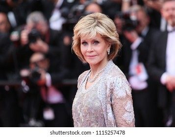 Jane Fonda attends the screening of 'Blackkklansman' during the 71st annual Cannes Film Festival at on May 14, 2018 in Cannes, France.