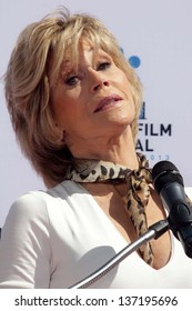 Jane Fonda at the Jane Fonda Hand And Foot Print Ceremony as part of the 2013 TCM Classic Film Festival, TCL Chinese Theater, Hollywood, CA 04-27-13