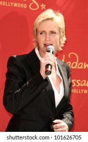 Jane Lynch at the unveiling of the Jane Lynch Wax Figure, Madame Tussauds, Hollywood, CA, 08-04-10