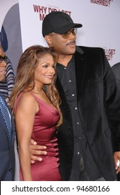 """Janet Jackson & Tyler Perry at the world premiere of their new movie """"Why Did I Get Married?"""" at the Cinerama Dome, Hollywood. October 5, 2007  Los Angeles, CA Picture: Paul Smith / Featureflash"""