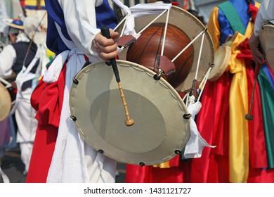 Janggu - Korean traditional percussion quartet instrument