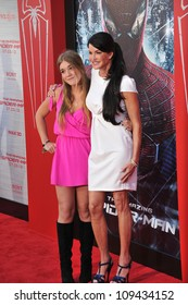 """Janice Dickinson & daughter at the world premiere of """"The Amazing Spider-Man"""" at Regency Village Theatre, Westwood. June 29, 2012  Los Angeles, CA Picture: Paul Smith / Featureflash"""