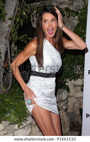 Janice Dickinson At The Playboy Tv Tv For 2 Tca Red Carpet Event