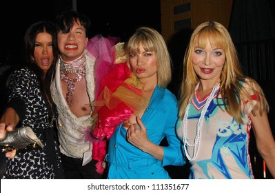 Janice Dickinson and Rena Riffel with Bobby Trendy and Lorielle New at the Anna Nicole Smith Tribute Event. HERE Lounge, West Hollywood, CA. 04-24-07