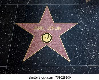 Janis Joplin's Star, Hollywood Walk of Fame - August 11th, 2017 - Hollywood Boulevard, Los Angeles, California, CA, USA