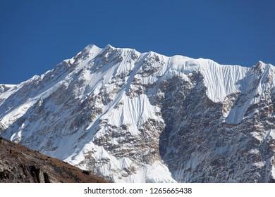 Jannu range in Kanchenjunga region of Nepal.