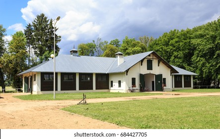 JANOW PODLASKI, POLAND. JUNE 2017. Modern Stable in Stud, established in 1817, oldest state owned and operated horse stud in Poland is breeding of purebred Arabians
