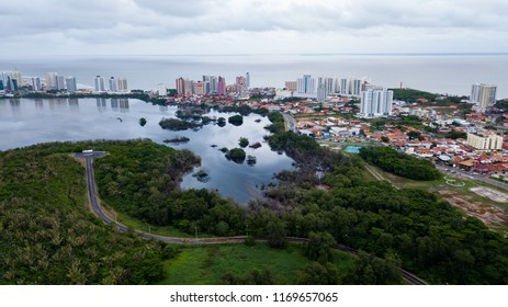 Jansen Lake in Sao Luiz, State of Maranhao, by drone