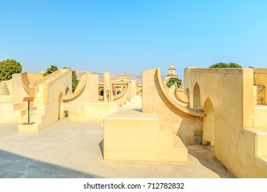 The Jantar Mantar astronomical observatory in Jaipur, India.