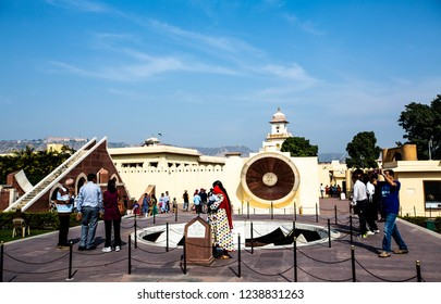 Jantar Martar, India,  Nov 17, 2018; Jaipur, IndiaJantar Mantar (Roman: Jantar Mantar) is a compilation of astronomical instruments.