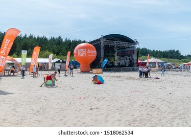 Jantar, Poland - July 12, 2019: Scene at the 21st World Amber Fishing Championships in Jantar.
