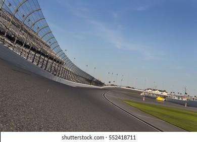 January 05, 2017 - Daytona Beach, Florida, USA:  Daytona International Speedway plays host to major motorsports events throughout the year, including the Rolex 24 Hours and the Daytona 500.