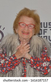 JANUARY 06 - ASTORIA, NY: Dr. Ruth Westheimer attends the Cinema Eye 2020 Awards Ceremony at the Museum of the Moving Image on January 6, 2020 in New York City.