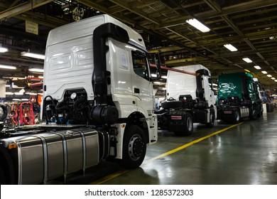 January 10, 2019 Russia, Tatarstan, Naberezhnye Chelny. the largest automobile Corporation of the Russian Federation KAMAZ Plant