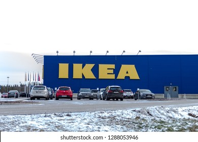 Karlstad/Värmland/Sweden, January 12,2019- Ikea Store with cars in front of.