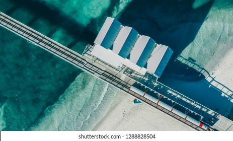 JANUARY 12,2019: Image of Busselton Jetty the second wooden longest jetty in the World.