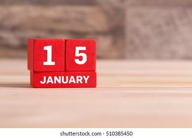 JANUARY 15 CALENDAR DAY