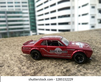January 16, 2019, a hotwheels car (nissan skyline GT2000X) being captured by hobbyist in Malaysia