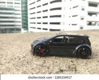 January 16, 2019, a hotwheels car (volkswagon golf gti) being captured by hobbyist in Malaysia