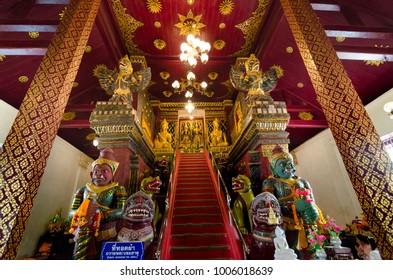 January 19, 2018 Nakhon Si Thammarat Thailand In the way to Wat Phra Mahathat Woramahawihan.