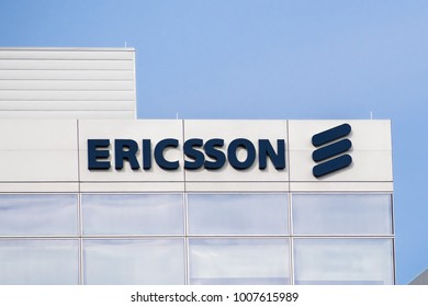 January 20, 2018 Santa Clara / CA / USA - Ericsson building located in Silicon Valley, south San Francisco bay area
