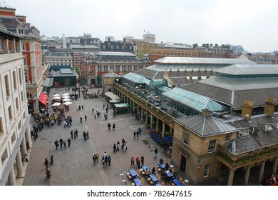January 2009: Photo from Royal Opera house to famous Covent Garden, London, United Kingdom