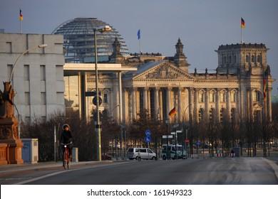 JANUARY 2012 - BERLIN: the Reichstags building in Berlin.