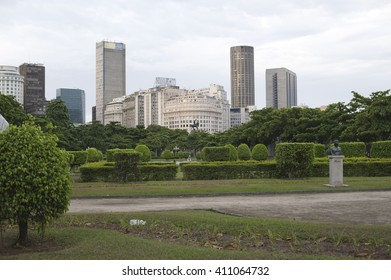 January 2013 - Rio de Janeiro, Brasil. The Rio de Janeiro city view. Center of the city, view from the Praca Paris.