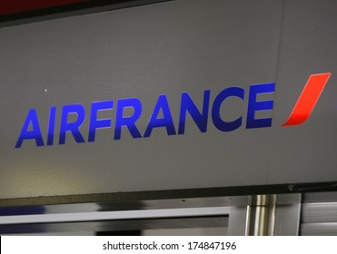 "JANUARY 2014 - BERLIN: the logo of the brand ""Air France"", Berlin."