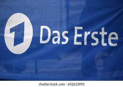 "JANUARY 2017 - BERLIN: the logo of the brand ""Das Erste"", Berlin."