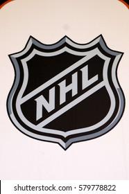 "JANUARY 2017 - PALMA: the logo of the brand ""NHL"", Palma de Mallorca."