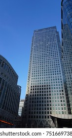 January 2017: Photo from iconic skyline in Canary Wharf district, Isle of Dogs, London, United Kingdom