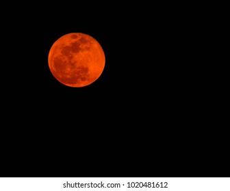 January 2018 'Full Blue Blood Super Moon'