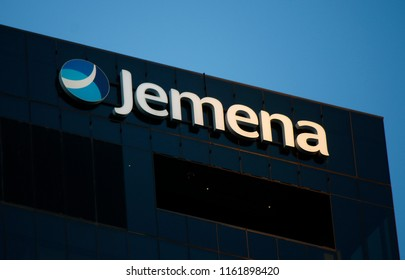 "JANUARY 2018 - MELBOURNE: the logo of the brand ""Jemena""."
