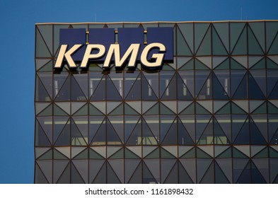 "JANUARY 2018 - MELBOURNE: the logo of the brand ""KPMG""."