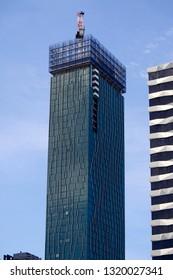 JANUARY 2018 - MELBOURNE: skyscrapers in the inner city, Australia.