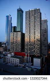 JANUARY 2018 - MELBOURNE: skyscrapers in the inner city, Australia.