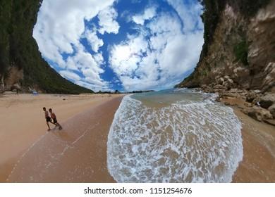 JANUARY 2018 - PORT CAMPBELL: panorama: beach of Port Campbell, Australia.