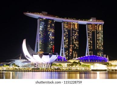 JANUARY 2018 - SINGAPORE: ArtScience Museum, Marina Bay Sands, Singapore.