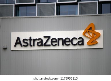 "JANUARY 2018 - SYDNEY: the logo of the brand ""Astra Zeneca""."