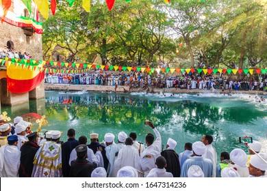 January 2019, annual Timkat festival in Gonder, Ethiopia