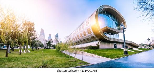 January 2019. Panorama of the Carpet Museum in Baku. Azerbaijan.