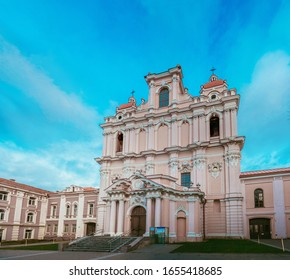January 2020. Panorama view of Church of St. Casimir in Vilnius. Lithuania.