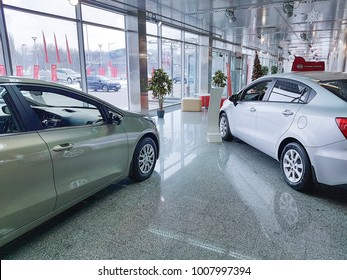 January 21, 2018 Ukraine Kiev,   KIA  showroom