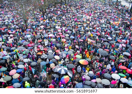 January 21st, 2017: Women's March in Portland, Oregon.