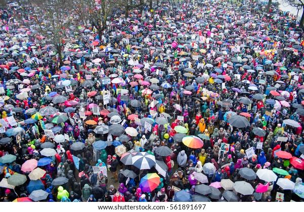 January 21st, 2017: Women's March in Portland, Oregon.