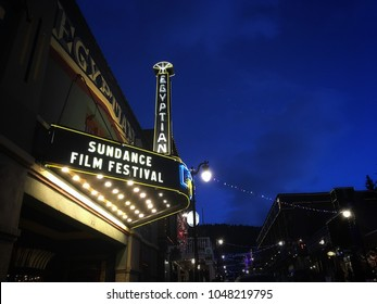 January 26, 2018- Park City, utah: Egyptian Theater during the Sundance film festival is one of the popular theaters playing movies in the festival.