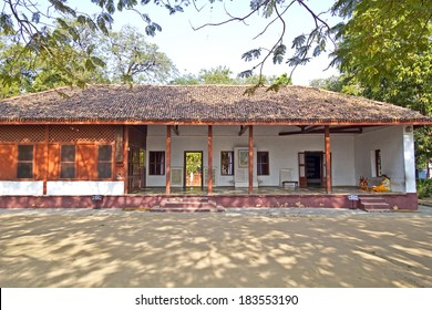JANUARY 27, 2014, AHMEDABAD, GUJARAT, INDIA - House of Mahatma and Kasturba Gandhi in Sabarmati Ashram.