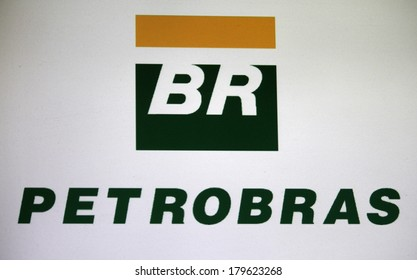 "JANUARY 27, 2014 - BERLIN: the logo of the brand ""Petrobras""."